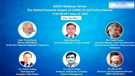 , SADF Director Paulo Casaca, participated as a key speaker among other experts in a webinar organised by AIDIA  on 15 May 2020 titled '  The Global Economic Impact of COVID-19 & Policy Options'