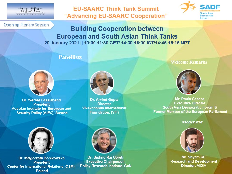 , EU-SAARC Think Tank Summit