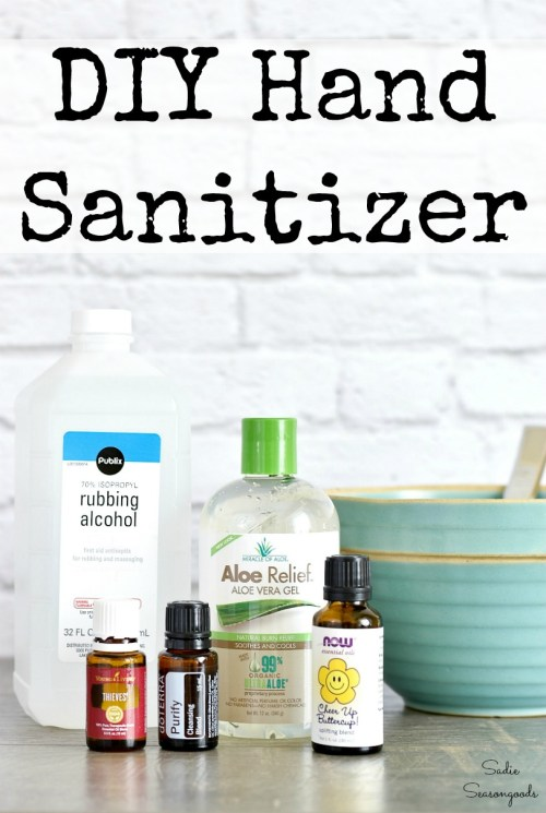 Emergency prepping with DIY hand sanitizer that uses rubbing alcohol