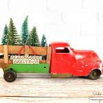 Upcycling A Toy Truck As Christmas Truck Decor With Christmas Trees