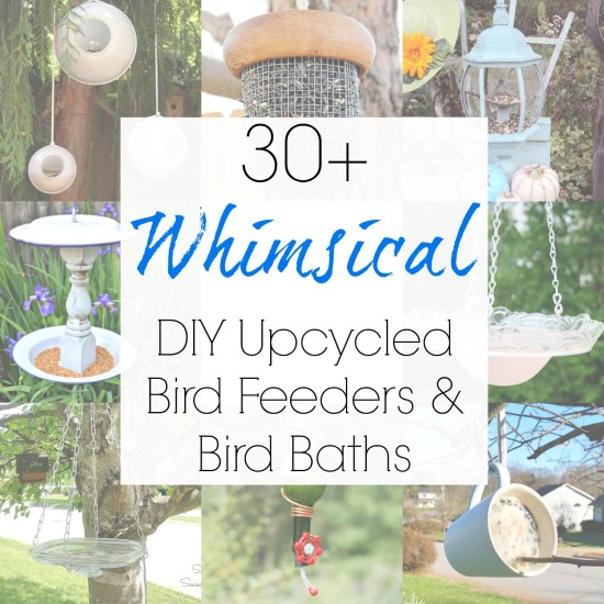 Amazing upcycling ideas for DIY bird bath and the best bird feeders made from repurposed materials for your bird feeder pole