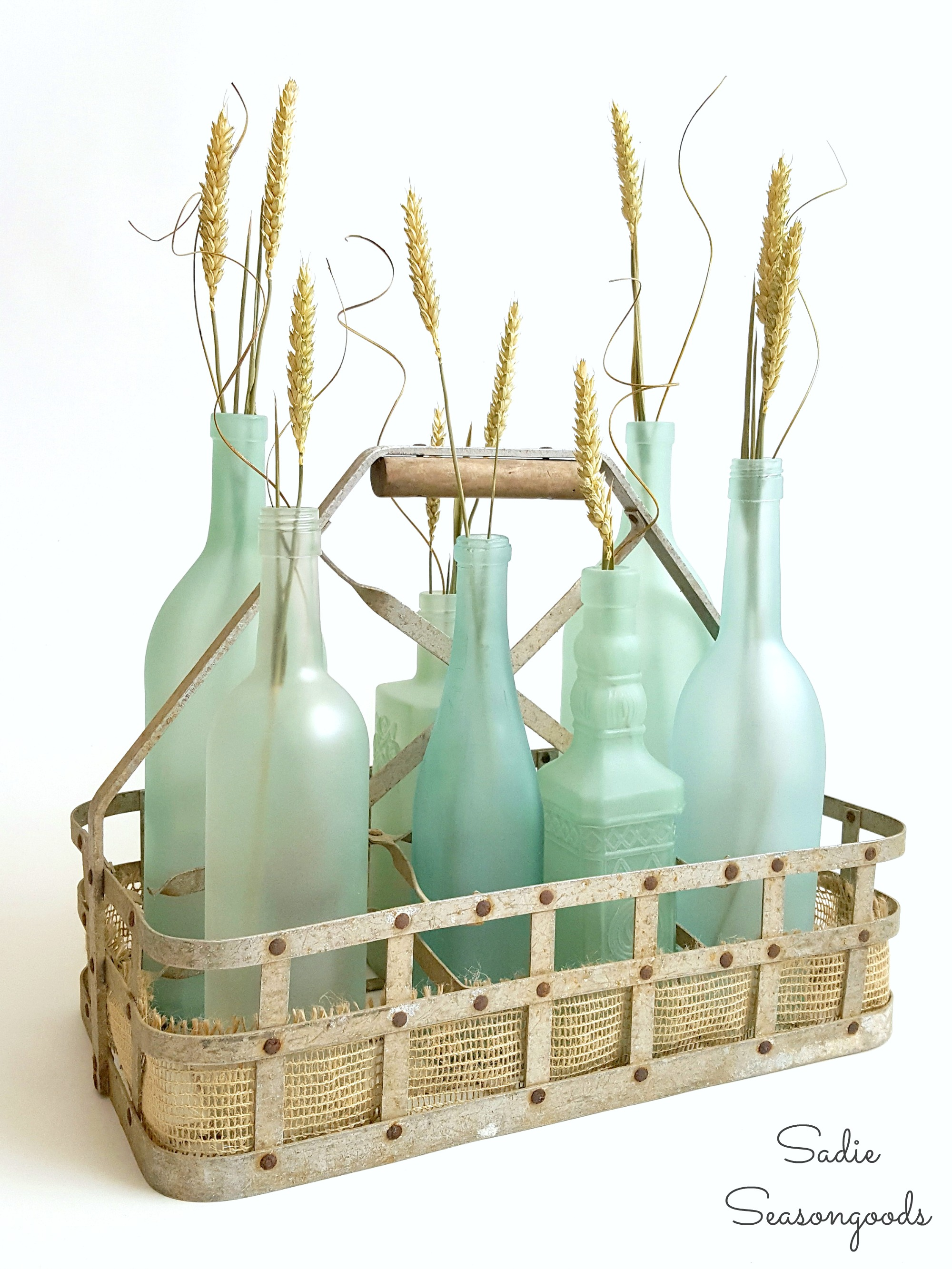 Wine Bottle Crafts Beach Glass Or Sea Glass Bottles For