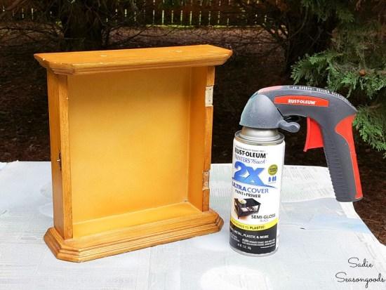 Spray painting a blackout kit