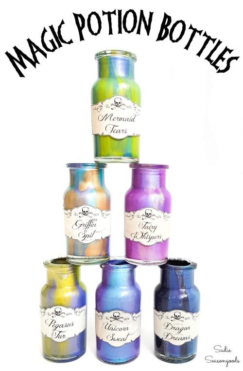 DIY Potion Bottles with Potion Bottle Labels