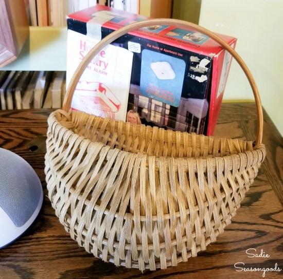 Hanging door basket or flat back basket for upcycling into Easter door decorations