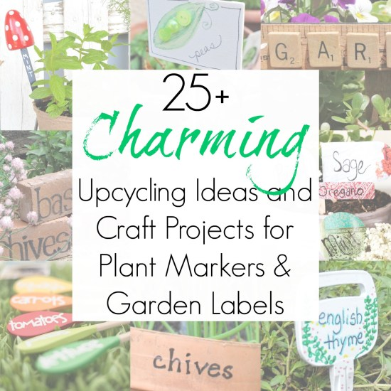 Upcycling crafts for plant labels and garden markers