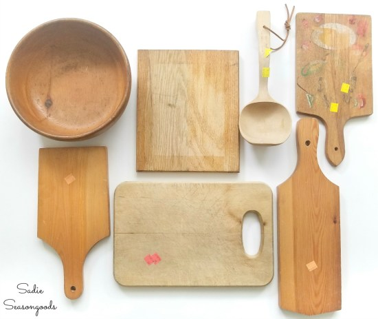 Farmhouse kitchen accessories from the thrift store