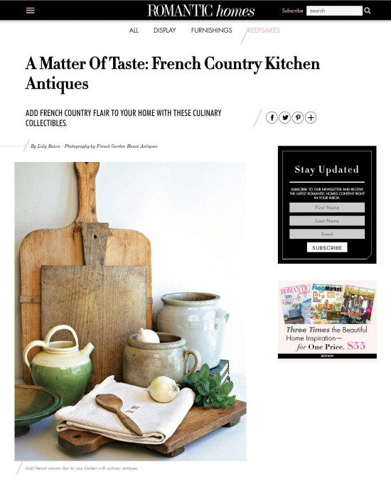 French Farmhouse Kitchen in Romantic Homes