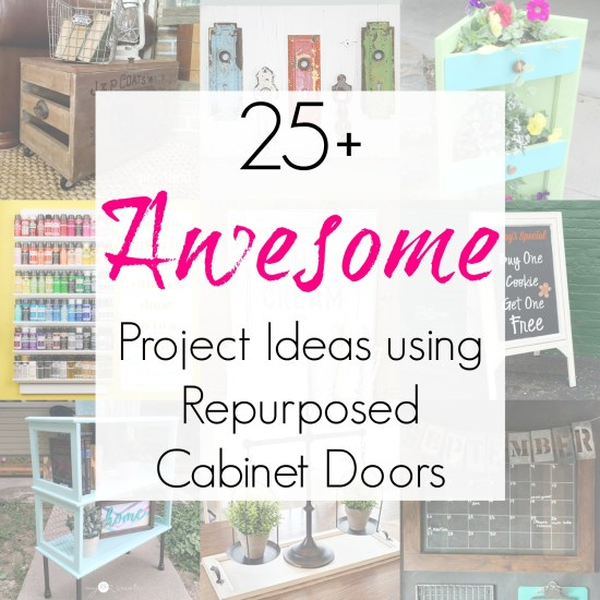 Upcycling ideas and repurposed projects for cabinet doors, cupboard doors, or architectural salvage as compiled by Sadie Seasongoods
