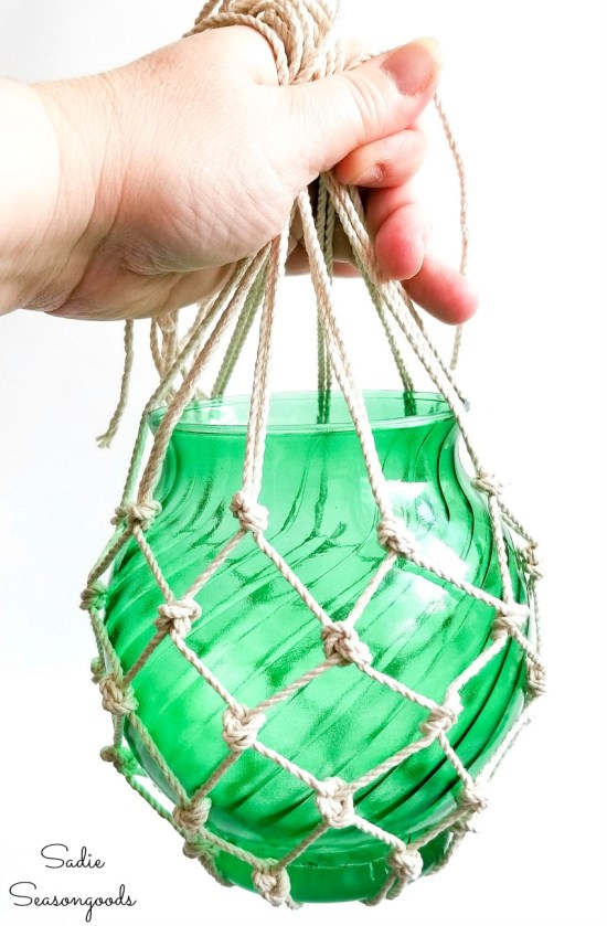 Upcycling a glass bowl into a Japanese fishing float