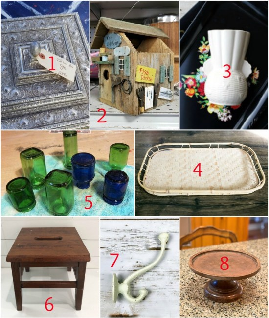 Thrift store decor team upcycling ideas for makeovers and DIY projects as seen on Sadie Seasongoods