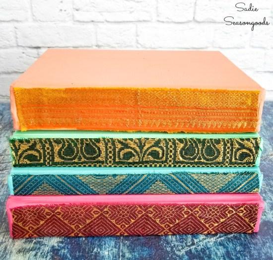 Decorative books with bohemian design