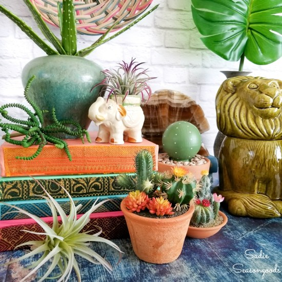 Thrift store decor for a boho style home