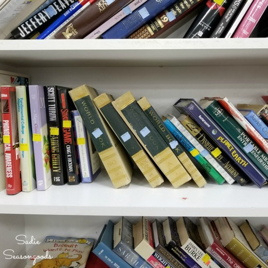 Upcycling ideas for old books or encyclopedia from the thrift store for boho decor
