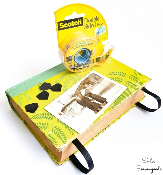 Making a picture frame with Reader's Digest books