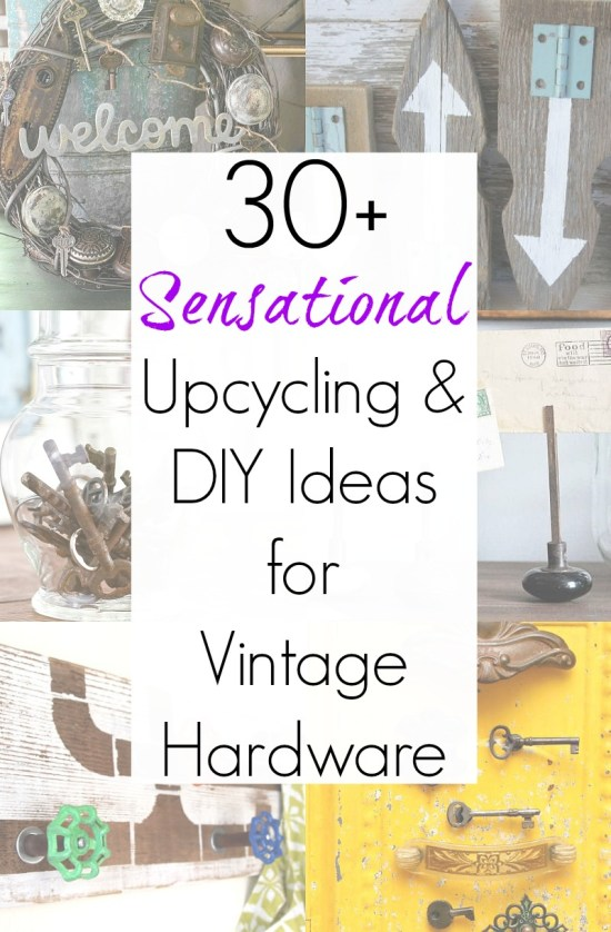 Vintage hardware or antique door knobs as vintage home decor with these upcycling ideas and repurposed projects