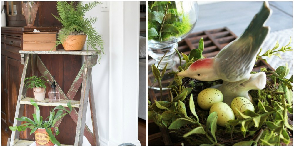 Spring Decor Ideas that are Inspired by a Vintage Garden by the Creative Vintage Darlings