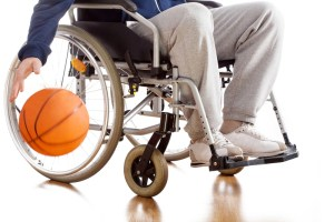 Disabled high school athlete