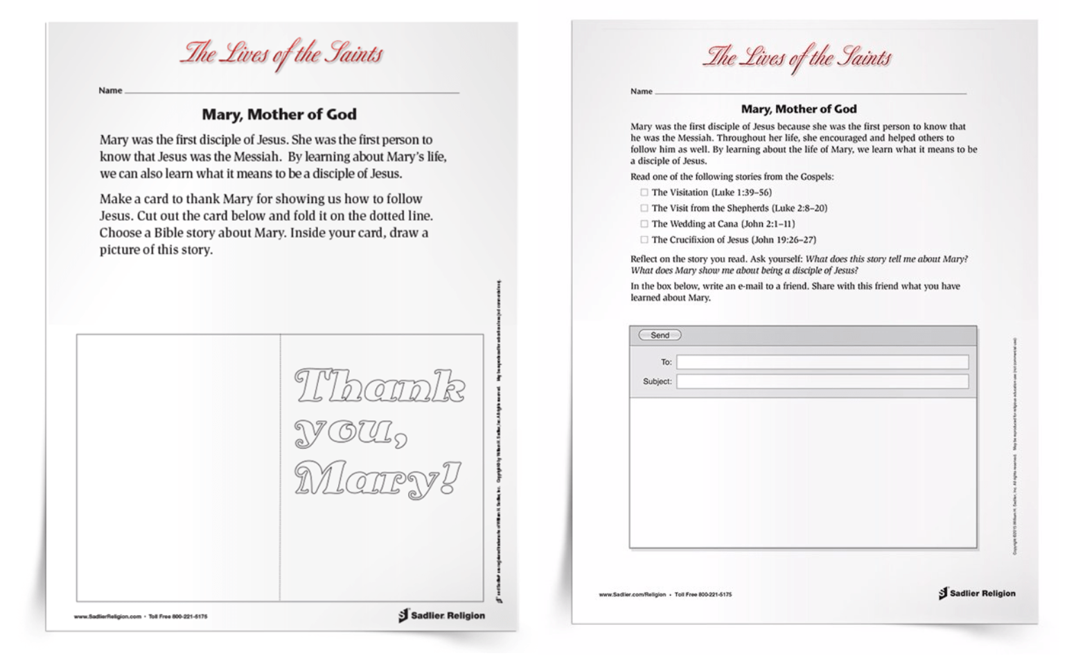 Free Printable Mary Mother Of God Activities Amp Prayers