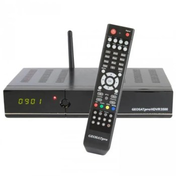 FTA GEOSATPRO HDVR3500 64Gb Capacity DVBS S2 Satellite Receiver PVR IPTV XBMC WiFi Media Player 3ABN