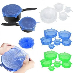 FREE SHIPPING Universal Silicone Lids Stretch Suction Cover For Cooking Pot Pan Bowl Cover Bowl