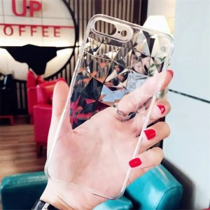 Phone Cases Luxury Transparent Ultra ThinSoft Diamond Texture Case For iPhone 6s 7 8 Plus X XR XS Max 6S