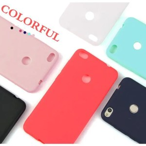 Phone Cases TPU Solid Back Cover Silicon Cases For Xiaomi Redmi Models Cases