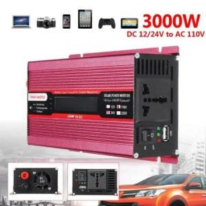 Accessories Voltage Transformer PEAK 4000W 12/24V To AC 220/110V Car Power Inverter USB Modified Sine Wave Converter Multiple Protect 12/24V