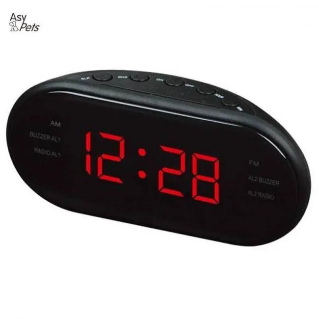 b33a4a5c9eb AM FM LED Radio Electronic Desktop Alarm Digital Table Clocks ...