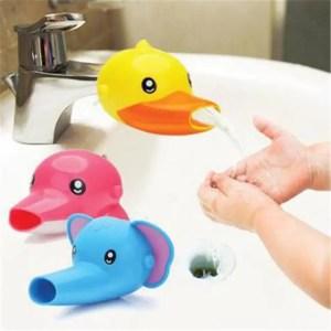 FREE SHIPPING Hand Washing Cartoon Bathroom Sink Elephant Dolphin Faucet Extender bathroom