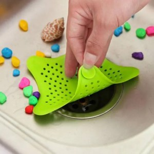 FREE SHIPPING Shape of the Pentagram Filter Strainer Bathroom Sink Kitchen Accessory Anti-blocking Hair Stopper Accessory