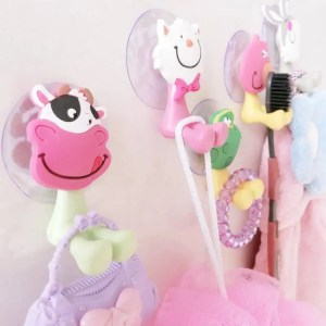 FREE SHIPPING High Quality Cartoon Toothbrush Holder Suction Hooks Bathroom Accessories Eco-Friendly Accessories