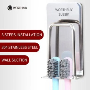 FREE SHIPPING Toothbrush Holder 304 Stainless Steel Bathroom Accessories 304 Stainless Steel