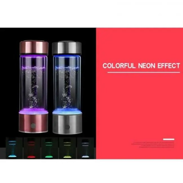 FREE SHIPPING 400ML Portable Generator Ionizer For Pure H2 Rich Hydrogen Water Bottle Bottle