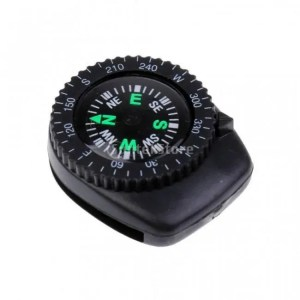 FREE SHIPPING Protable Mini Precision Watch Band Clip-on Navigation Wrist Compass for Survival Camping Hiking [tag]