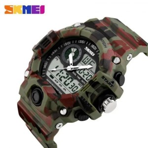 FREE SHIPPING Men Dual Display Wristwatches 50M Waterproof Outdoor Sport watch Chronograph Shock Resistant 50M