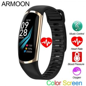 Hear SFPW-5 Fitness Smart Pedometer Health Activity Monitor Pulsometer BP Bluetooth Bracelet Watch 50M