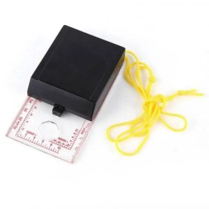 FREE SHIPPING OC-6 Orienteering Baseplate Map Compass Scale Ruler with Lanyard angle