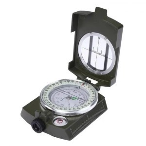 FREE SHIPPING LC-2 Military Style Lensatic Survival Hiking Emergency Compass angle