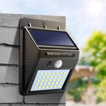 FREE SHIPPING Night Light Solar Powered LED Wall Lamp Motion Sensor Solar Light Garden ElectronicDevice