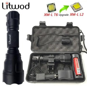 Flashlights & Lightings LFL-5  T6 CREE LED Torch Aluminum alloy Zoomable Tactical Defense Flashlight up to 3800 lumens Battery