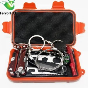 FREE SHIPPING 9 in 1 Outdoor survival emergency kit for your bug-out bag or car backpack