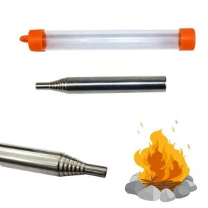FREE SHIPPING Outdoor Pocket Bellow Collapsible Fire Tool Camping Survival Blow Fire Tube Camping
