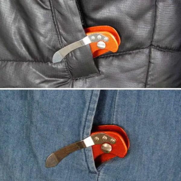 FREE SHIPPING EDC Lightweight Folding Keys Organizer Pocket Aluminum  Holder Aluminum