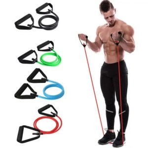 FREE SHIPPING 48″ Yoga  Elastic Resistance Fitness Workout Exercise Band Pull Rope Yoga