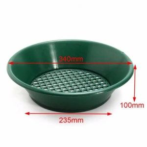 Treasures Green Gold Sifting Panning Pan Classifier 13.4″ Classifier