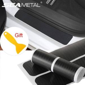Accessories Car Door Sill Protector Carbon Fiber Styling Sticker Anti