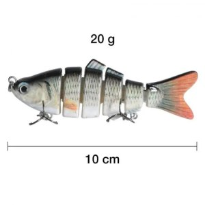 FREE SHIPPING Piscifun Fishing Lure 10cm 20g 3D Eyes 6-Segment Lifelike Fishing Hard Lure Crankbait With 2 Hook Fishing Baits Pesca Cebo 2019