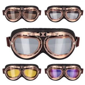 Car & Motorbike Vintage Steampunk Copper Motorcycle Flying Goggles Copper