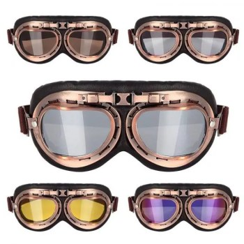FREE SHIPPING Vintage Steampunk Copper Motorcycle Flying Goggles Copper